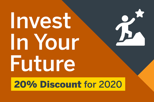 Invest In Your Future - 20% Discount for 2020