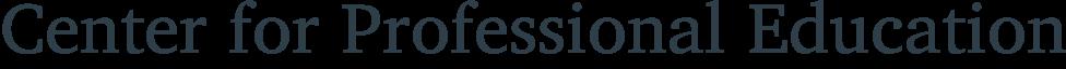 Center for Professional Education logo