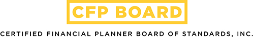 Certified Financial Planner Board logo in yellow