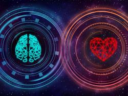 Emotional intelligence image of brain and heart