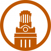 An icon of the UT Austin Tower.