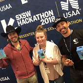 Photo of Amanda Wisniowski at SXSW Hackathon 2018