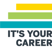 It's Your Career Badge with Color Bars