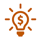Drawing of a Light Bulb with a Dollar Sign